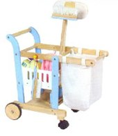Wooden Toy Cleaning Set with Barrow
