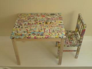 decoupage table and chairs from D for Daisy