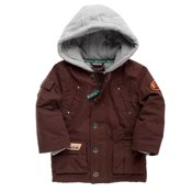 Brown sweat hooded parka by St George by Duffer