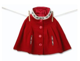 Hot Coat Alert! Red Pleat Cape by Molly n Jack
