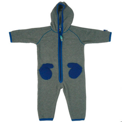 Nicolaj Grey Fleece babysuit