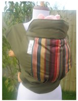 SnugBaby Slings - Simply Stripes On Khaki