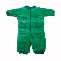 Ej Sikke Lej Green Striped Velour Padded Baby All in One