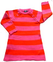 Ej Sikke Le pink stripe cotton knit dress