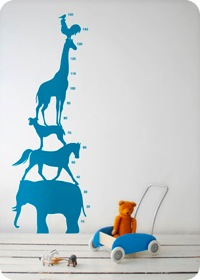 Animal Tower Height Chart by Ferm Living