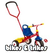 bikes and trikes section