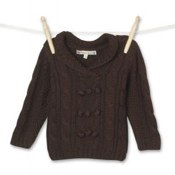 Boy's Brown Chunky Knit Jumper by Molly n Jack