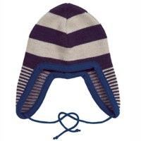 Lille Barn Merino Wool Dark Purple and Blue Striped Hat