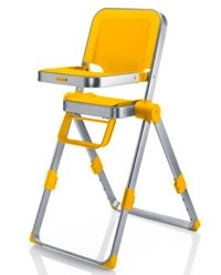 concord spin highchair in yellow
