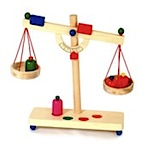 pretend wooden scales