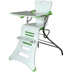 Kuster K1 Highchair in white and lime