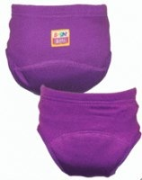 Bright Bots Washable Training Pants in purple