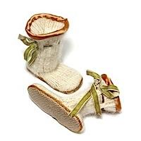 angora and merino BABY SLIPPER SOCKS