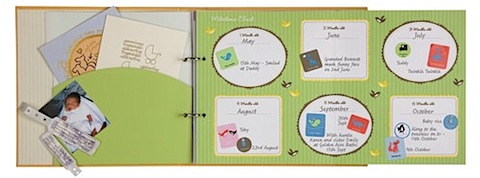 all about baby journal milestones page