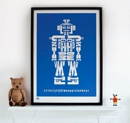 bold and noble alphabot print