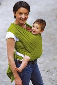 calin bleu cool wrap green gauze sling