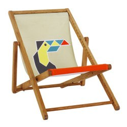 MAUI toucan deckchair from Habitat side profile
