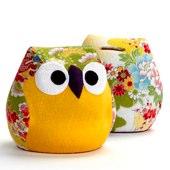 Kimono owl moneybox