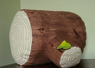 Tree Stump Floor Pillow