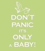 Don't Panic Baby Card