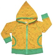 snoozy yellow elephant hooded top