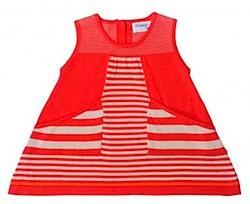 Pima Cotton striped dress bonnie baby