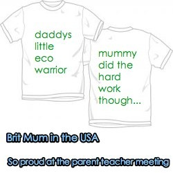 brit mum in the USA. top marks at our parent teacher meeting