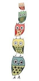 owl stack II giclee art print