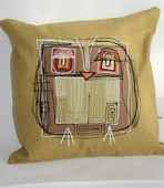 zoe keeton owl cushion