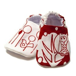 little owl reversible baby shoes