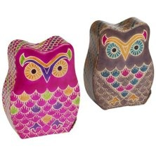 owl money boxes in leather from graham and green