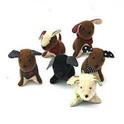 Handmade cashmere knitted Dog.