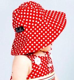 Bridgette Hat - Red Dot by oobi baby