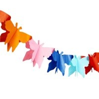 Fab Fiesta Big Butterfly Garland