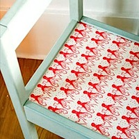 famille summerbelle chair with octopus tape