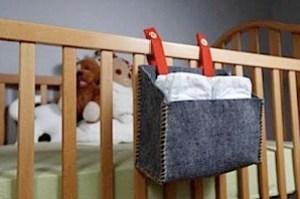 wool felt diaper storage