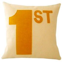 Yellow 1st cushion/pillow by karen hilton designs