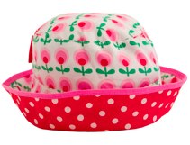 TOBY TIGER Dot Flower Reversible Sun Hat