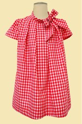 Gingham Handkerchief Dress by Hucklebones