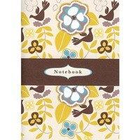 Brown bird Rosehip A6 Notebook