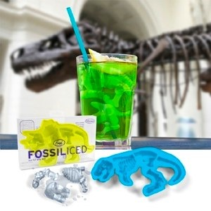 Fossiliced – dinosaur ice cube trays