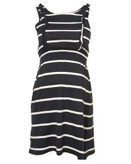 Maternity Stripe Frill Dress Topshop