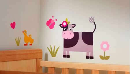Collette the Cow Wall Stickers