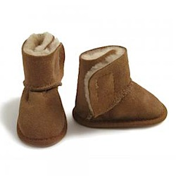 babies in sheeps clothing lambskin booties