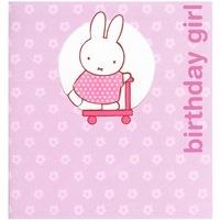 <br /> Miffy Birthday Girl Greeting Card