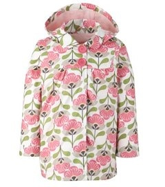 John Lewis Girl Floral Print Mac, Pink and green