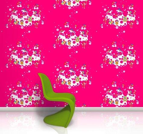 Fantasia wallpaper and baby panton