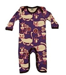 Smafolk cats and flowers long sleeved bodysuit
