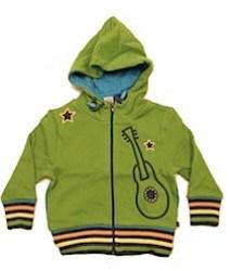 Smafolk green hoodie with guitar