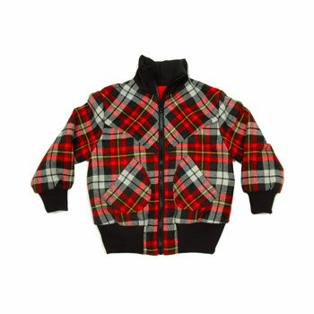 moonkids Squared Red Lumber Jacket